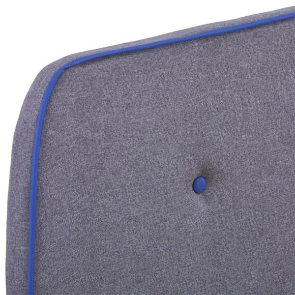 Bettgestell Hellgrau Stoff 90×200 cm