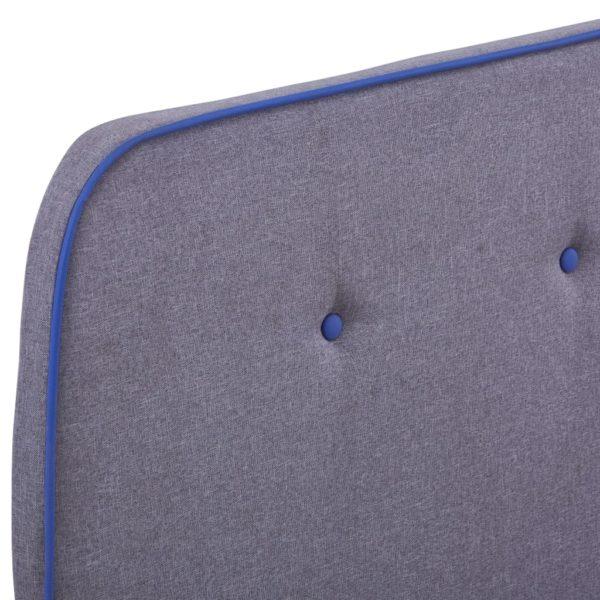 Bettgestell Hellgrau Stoff 120×200 cm