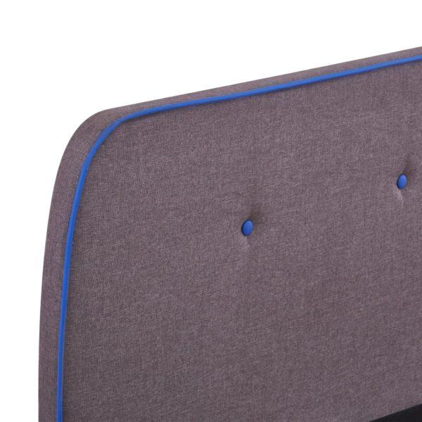 Bettgestell Taupe Stoff 180×200 cm