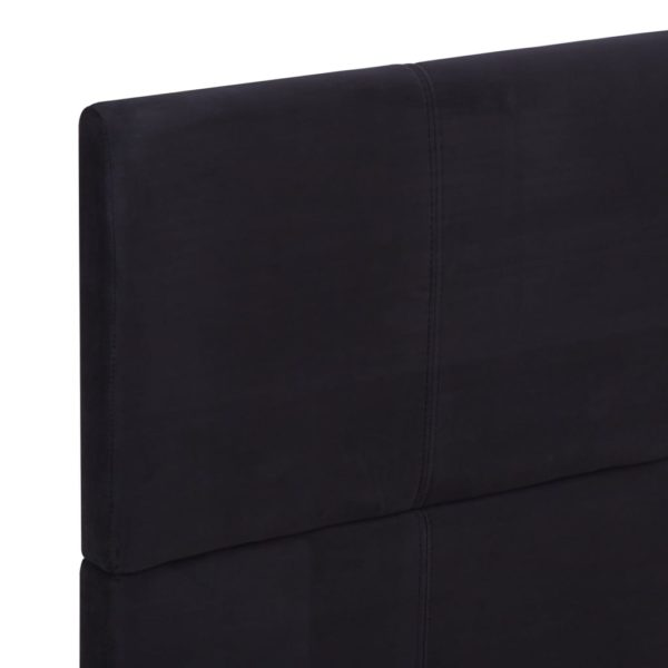 Bettgestell Schwarz Stoff 160 x 200 cm
