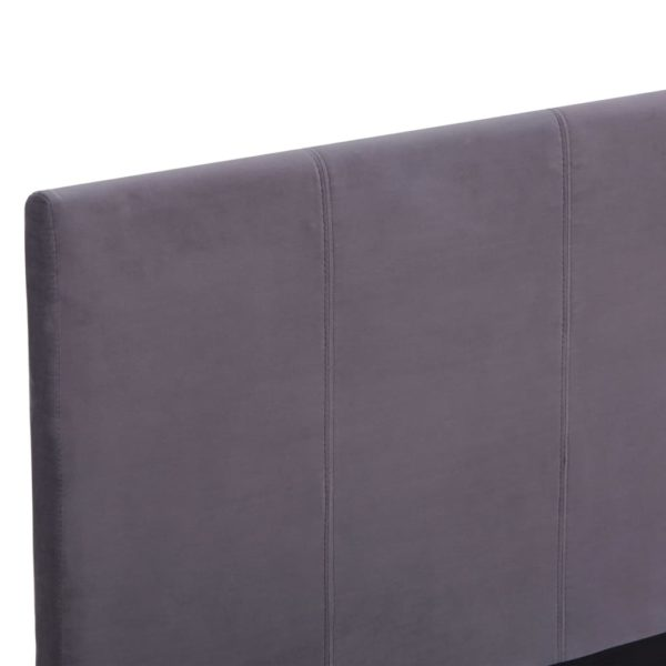 Bettgestell Grau Stoff 120 x 200 cm
