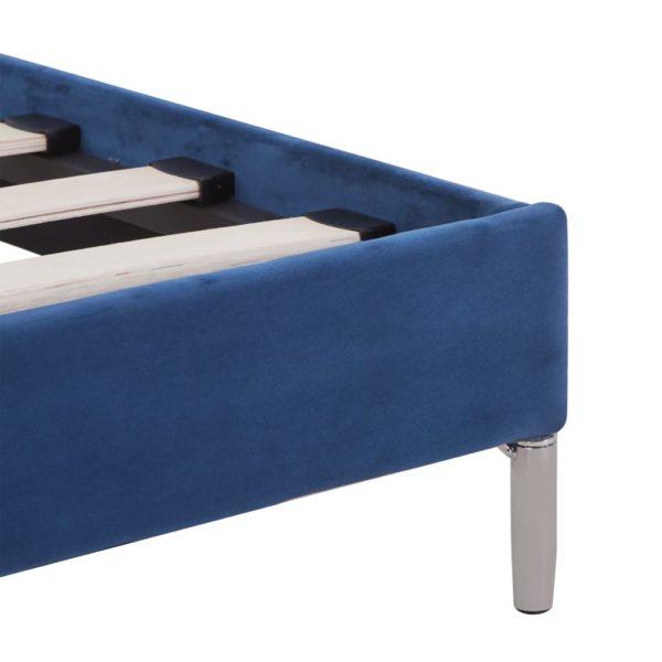 Bettgestell Blau Stoff 160 x 200 cm