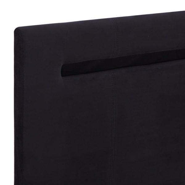Bettgestell mit LED Schwarz Stoff 160 x 200 cm