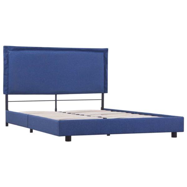 Bettgestell Blau Stoff 140×200 cm