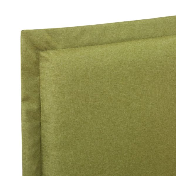 Bettgestell Grün Stoff 120×200 cm
