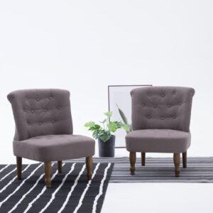 Französischer Stuhl Taupe Stoff