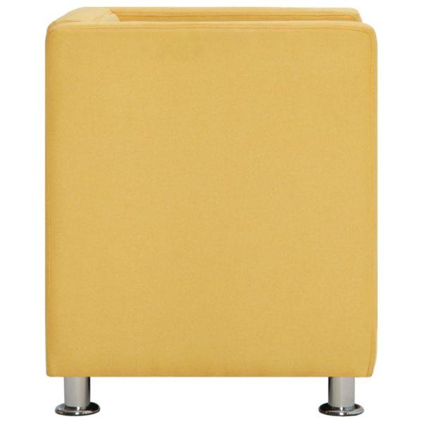 Würfel-Sessel Gelb Stoff