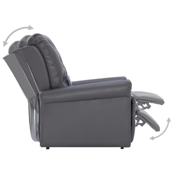 Massagesessel Grau Kunstleder