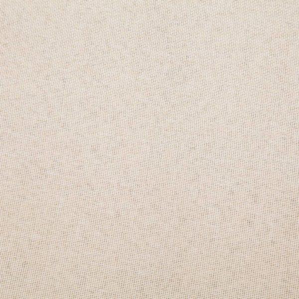 Schlafsofa Creme Polyester