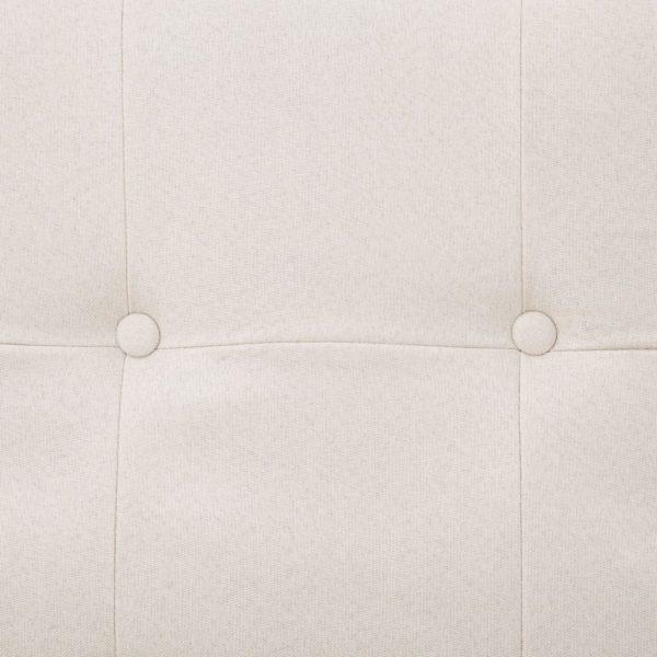 Schlafsofa mit Armlehnen Creme Polyester