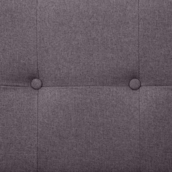 Schlafsofa mit Armlehnen Taupe Polyester
