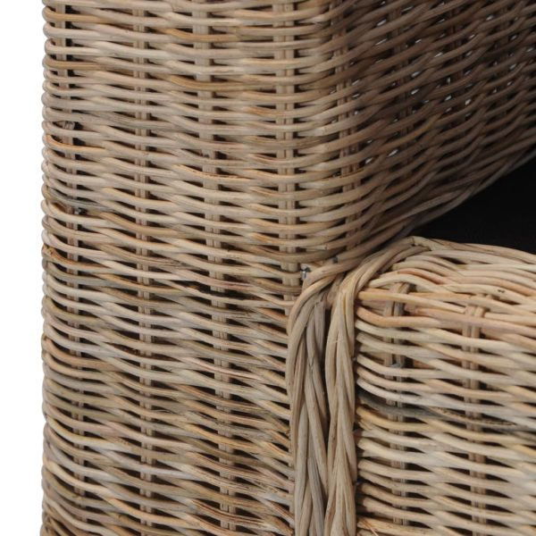 Sessel mit Auflagen Natur Rattan