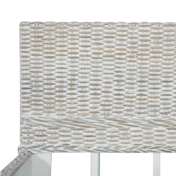 Bettgestell Grau Natur Rattan 140 x 200 cm