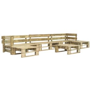 6-tlg. Garten-Sofagarnitur aus Paletten Holz