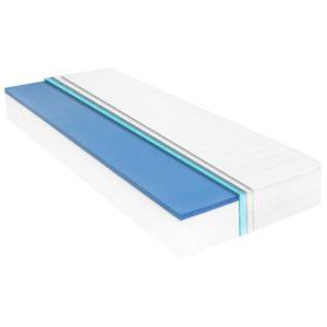 Matratze 80 x 200 cm Viskoelastischer Memory-Schaum 18 cm