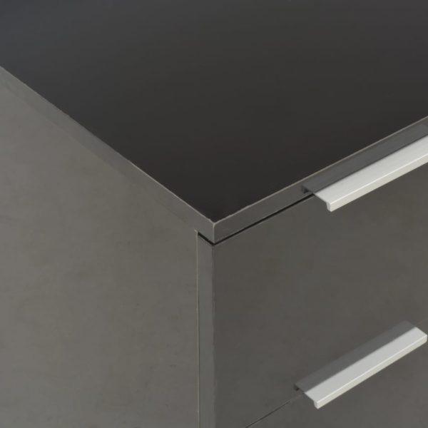 Sideboard Hochglanz Schwarz 60×35×76 cm Spanplatte