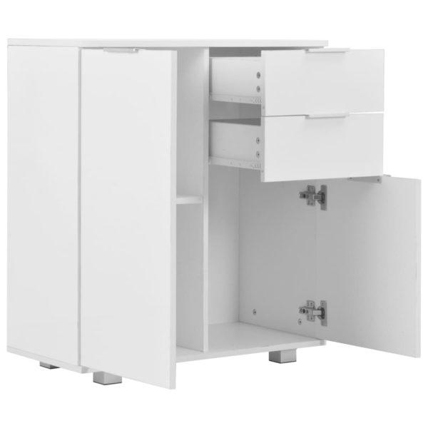 Sideboard Hochglanz Weiß 71×35×76 cm Spanplatte