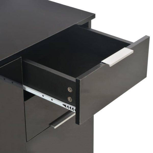 Sideboard Hochglanz Schwarz 71×35×76 cm Spanplatte