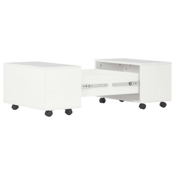 Couchtisch Hochglanz-Weiß 60 x 60 x 35 cm Spanplatte