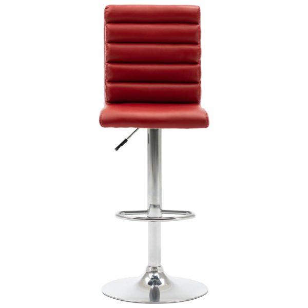 Barstühle 2 Stk. Weinrot Kunstleder