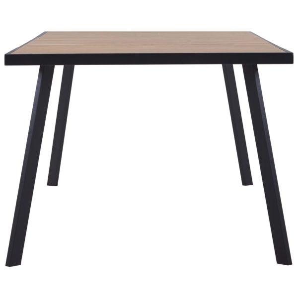 Esstisch Helles Holz und Schwarz 200 x 100 x 75 cm MDF