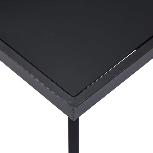 Esstisch Schwarz 120 x 60 x 75 cm Hartglas