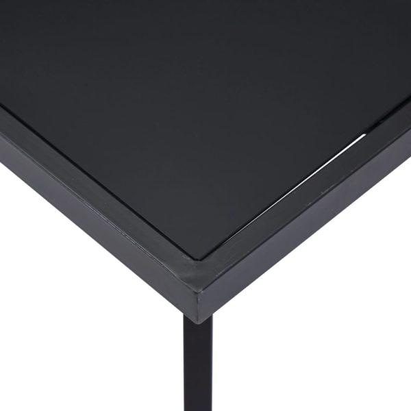 Esstisch Schwarz 180 x 90 x 75 cm Hartglas