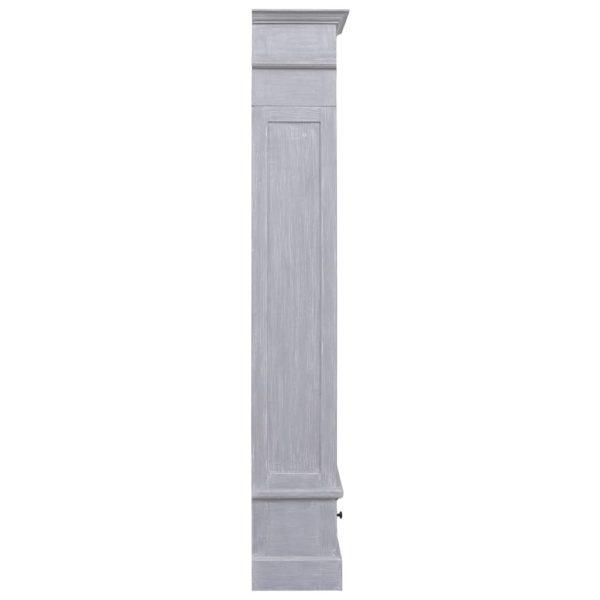 Highboard 60 x 30 x 180 cm Massivholz Mahagoni