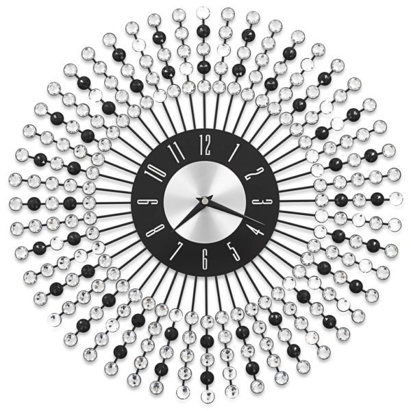 Wanduhr Metall 43 cm Schwarz