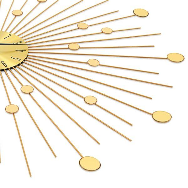 Wanduhr Metall 70 cm Golden