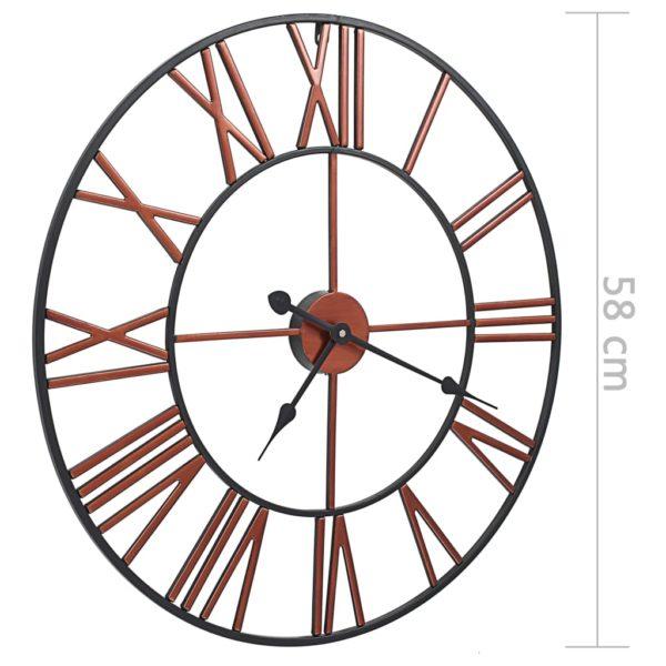 Wanduhr Metall 58 cm Rot