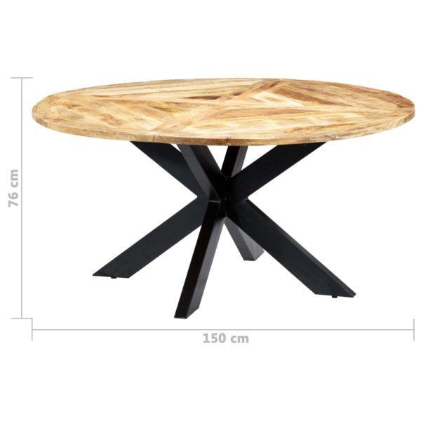 Esstisch Rund 150×76 cm Mango Massivholz