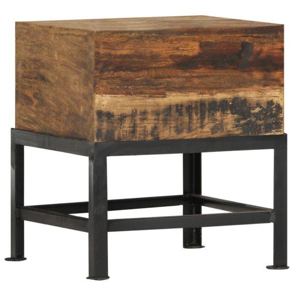 Hocker 35 x 35 x 40 cm Massives Altholz