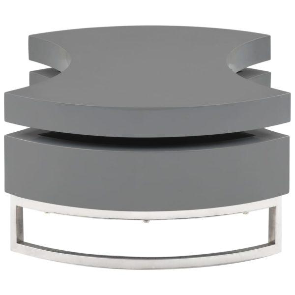 Couchtisch Form-Verstellbar Hochglanz-Grau