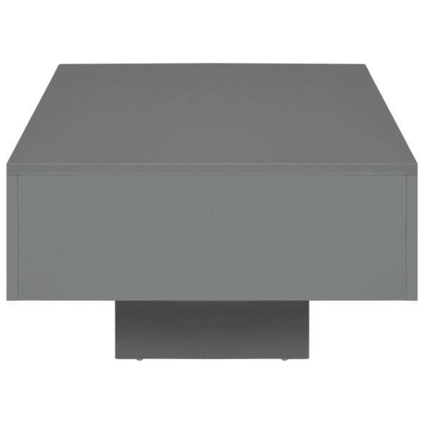 Couchtisch Hochglanz-Grau 115×55×31 cm MDF