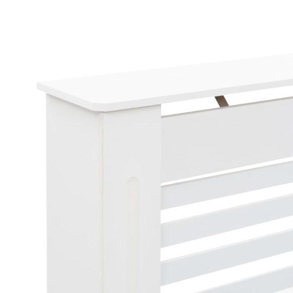 Heizkörperabdeckung Weiß 112×19×81,5 cm MDF