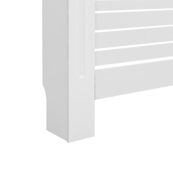 Heizkörperabdeckung Weiß 152×19×81,5 cm MDF
