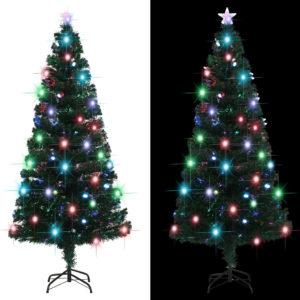 Künstlicher Weihnachtsbaum mit Ständer + LED 180 cm 220 Zweige