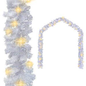 Weihnachtsgirlande mit LED-Lichtern 5 m Weiß