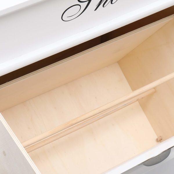 Schuhschrank Weiß 50 x 28 x 58 cm Paulownia Holz