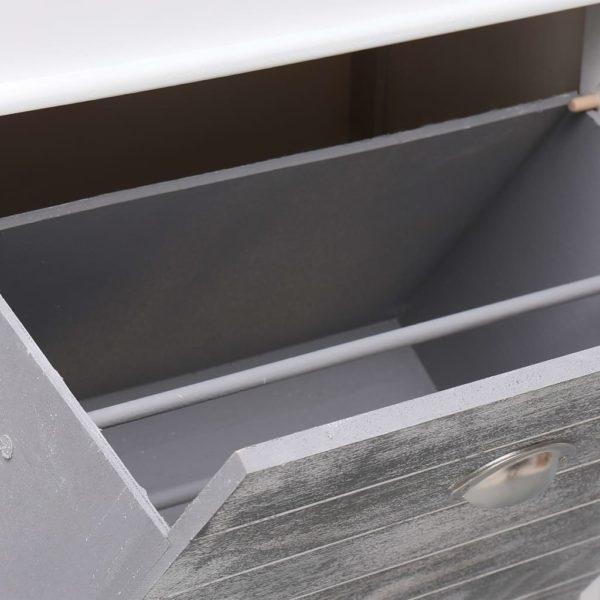 Schuhschrank Grau 50 x 28 x 98 cm Paulownia Holz