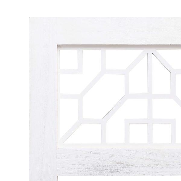 3-teiliger Raumteiler Creme 105 x 165 cm Stoff
