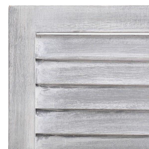 3-tlg. Raumteiler Grau 105×165 cm Holz