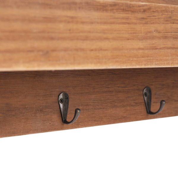 Wandgarderobe Braun 50×10×23 cm Holz