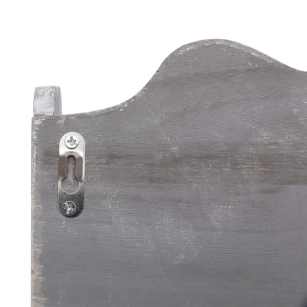 Wandgarderobe Grau 50 x 10 x 30 cm Holz
