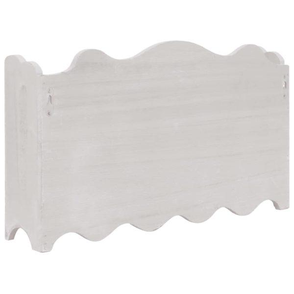 Wandgarderobe Weiß 50 x 10 x 30 cm Holz
