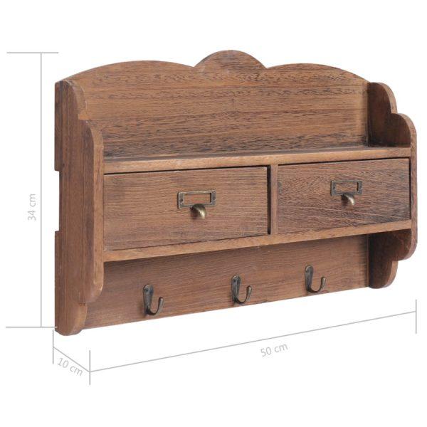 Wandgarderobe Braun 50 x 10 x 34 cm Holz