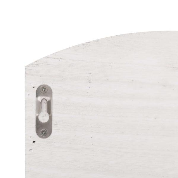 Wandgarderobe Weiß 50 x 10 x 34 cm Holz