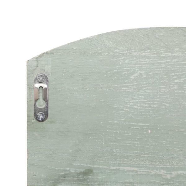 Wandgarderobe Grün 50 x 10 x 34 cm Holz