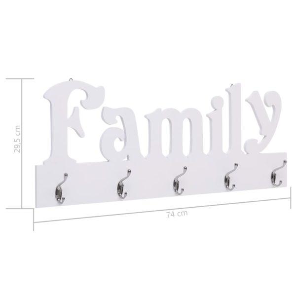 Wandgarderobe FAMILY 74 x 29,5 cm